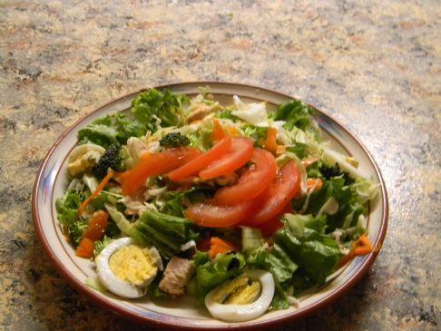 Chicken Cabbage chef salad