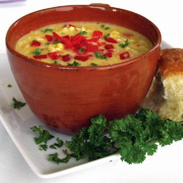 Sweet Corn and Red Pepper Soup Recipe