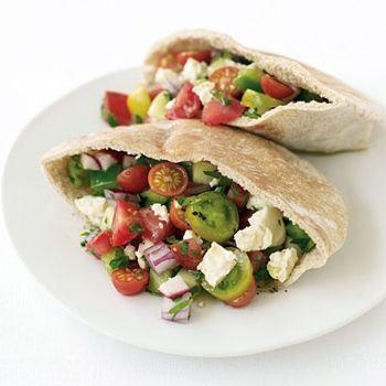 Greek Salad Pita Sandwich