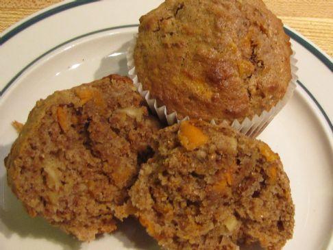 Carrot Apple Bran Muffins