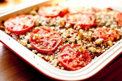 Vegan Rustic Bread and Eggplant Lasagna