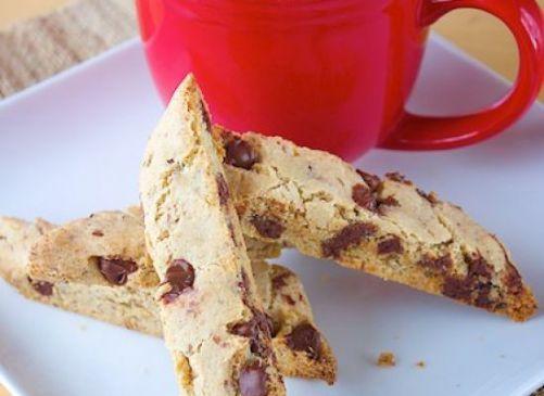 Vegan Gluten Free Chocolate Chip Biscotti