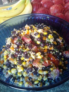 Lime Cilantro Black Bean & Quinoa Salad