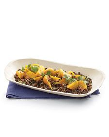 Lentils with Ginger, Golden Beets, and Herbs
