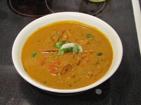 Spicy Thai shrimp curry