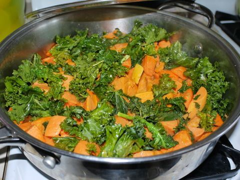 Sweet Potatoes with Kale
