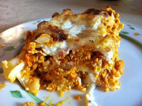 Pumpkin walnut turkey Lasagna