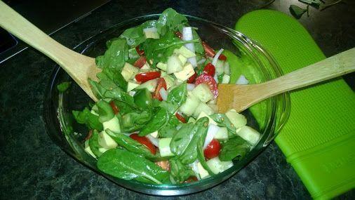 Avacado Spinach Salad