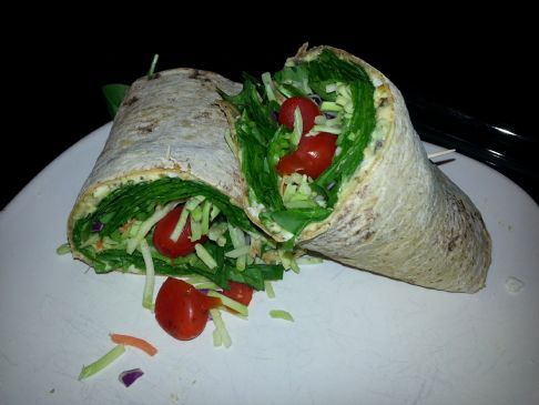 Very Veggie Hummus Wrap #FITFOOD