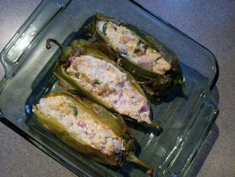 Chicken Stuffed Pablano Peppers