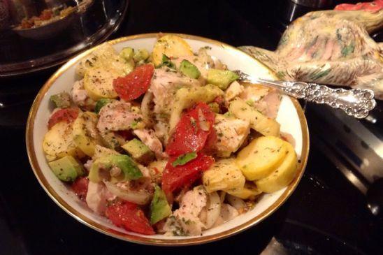 Cold Chicken Avocado Squash Salad