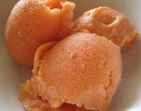 Raw Peach Sorbet