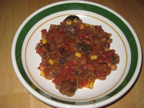 Basic Mixed Bean Chili with Hamburger
