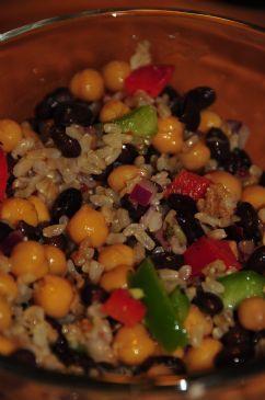 Nikkibenk's Chick Pea and Black Bean Salad