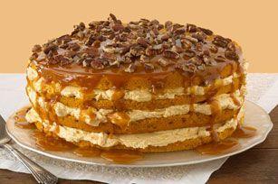 Pumpkin Cream Cheese Layer Cake