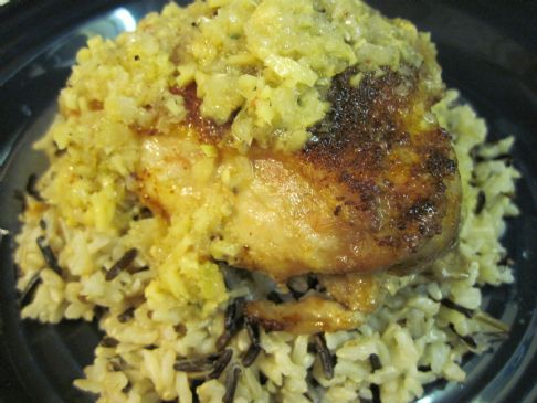 Jamaican Chicken w/ Wild Rice