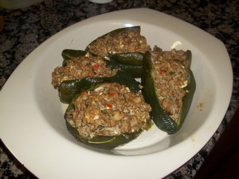 Stuffed Poblano Pepper