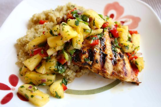 Grilled Carribean Chicken with Pineapple Salsa
