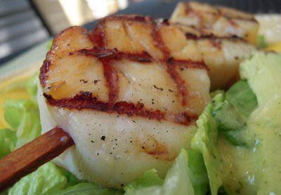 Zucchini Scallop skewers