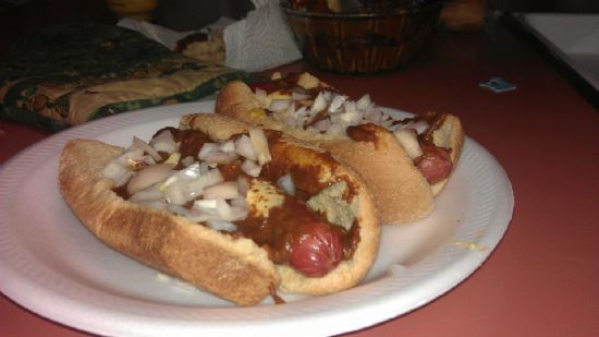 Beef Chili dogs!!!