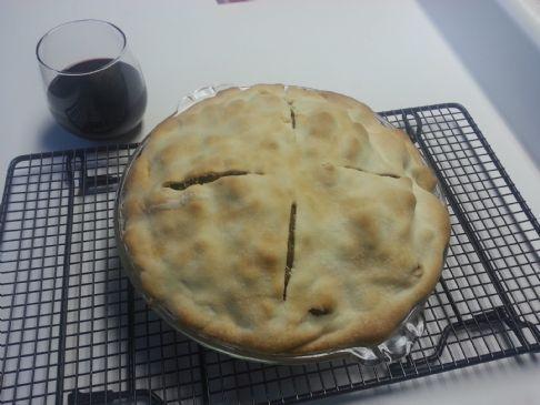Pitman Beef & Onion pie (1 serving = 1/8 pie)