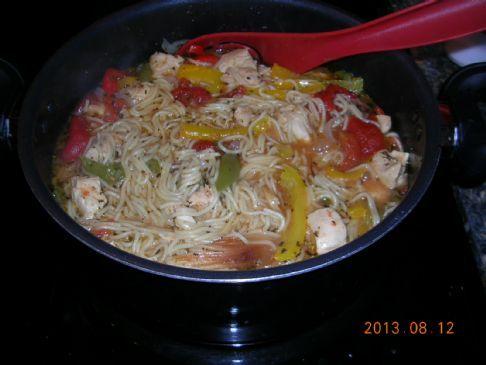 Tomato Basil Chicken and Pasta