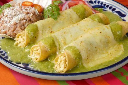 Chef Meg's Creamy Green Enchiladas