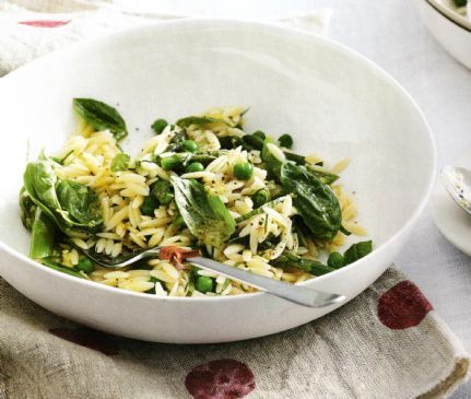 Orzo, Asparagus & Pea Salad
