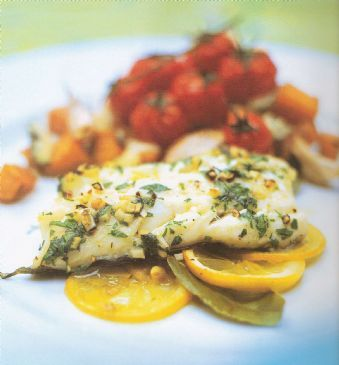 Roasted Lemon Bay Scented Cod