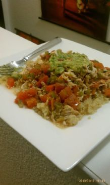 Salsa Smothered Shredded Chicken