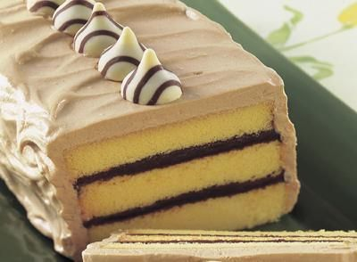 Hershey's Hugs and Kisses Pound Cake Torte