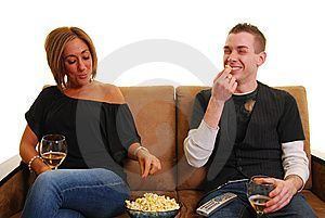 Popcorn and Wine IS a Single Girls Meal