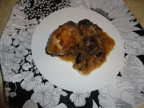 Low Carb Mushroom Coconut Chicken