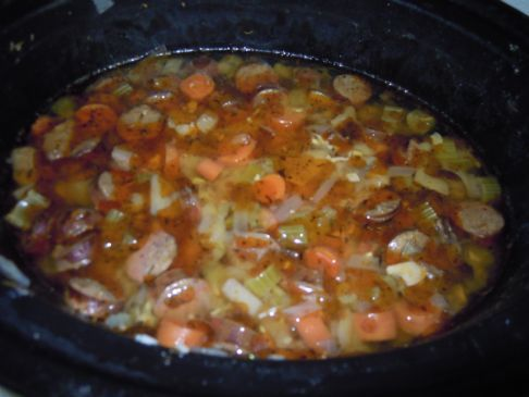 Slow Cooked Sausage Stew