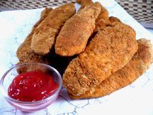 Fiber-ific Fried Chicken Strips