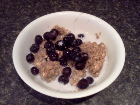 Baked Oatmeal--for two--cooked in microwave