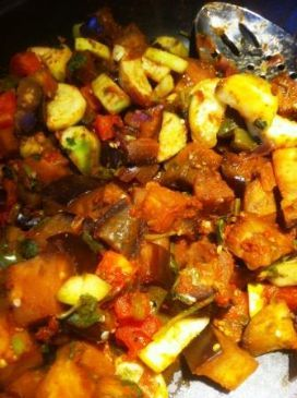 Eggplant and Zucchini - Saute with curry!