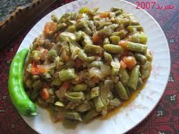 Syrian green beans cooked with oil