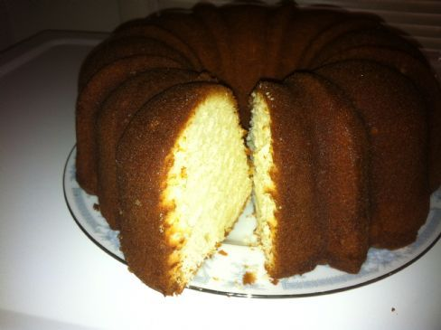 Cream Cheese Butter Rum Pound Cake Recipe | SparkRecipes