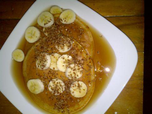Whole Grain Sweet Potato Banana Pancakes