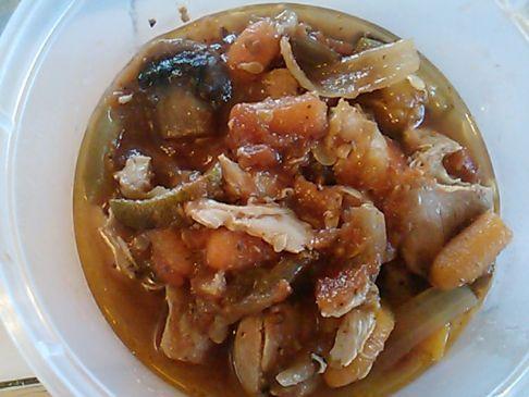 Zesty Crockpot Chicken & Vegetables