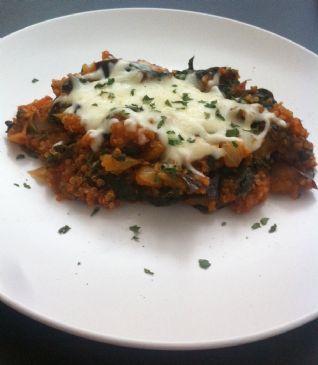 Quinoa, Spinach, & Eggplant