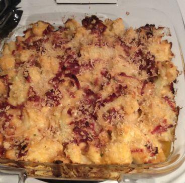 Cheesy Cauliflower with Turkey Bacon