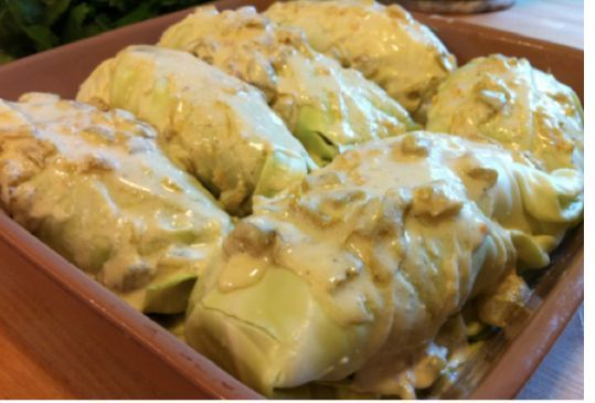 Simple Cabbage Enchiladas