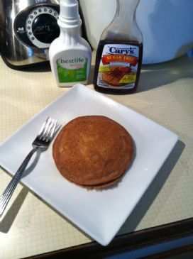 Chocolate Peanut Butter Protein Pancakes