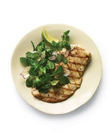 Grilled Chicken with Mint and Radish Salad