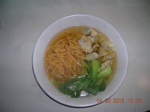 Wonton, Choy Sum & Noodles Soup