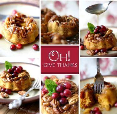 Pumpkin-Cranberry-Pecan Bundt Cake