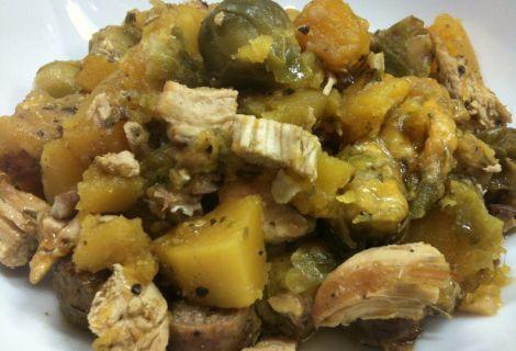 Chicken, Turkey Sausage & Butternut Squash Casserole