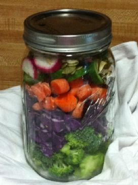 Karen's Krunchy Salad in a Jar